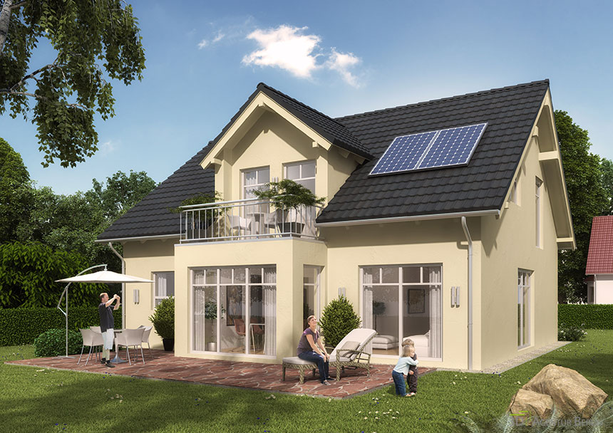 Architekturvisualisierung Berlin Single-family Home Karlsruhe: 3d Agentur Berlin