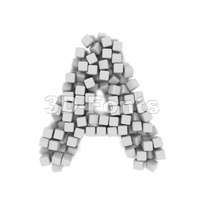 cube letter A Capital character on white background