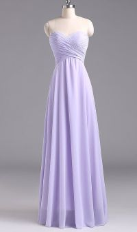 Simple Long Lavender Prom Dress 2016, Lavender Bridesmaid ...