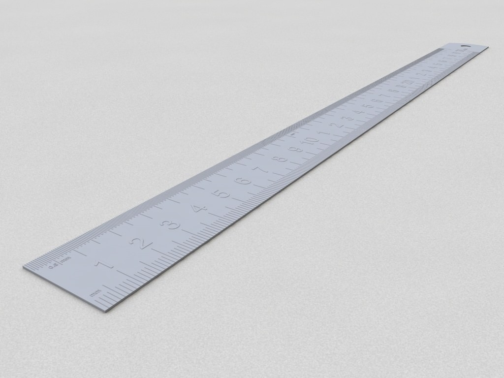 30cm 30cm Ruler Measure Scale 3d Model For Download