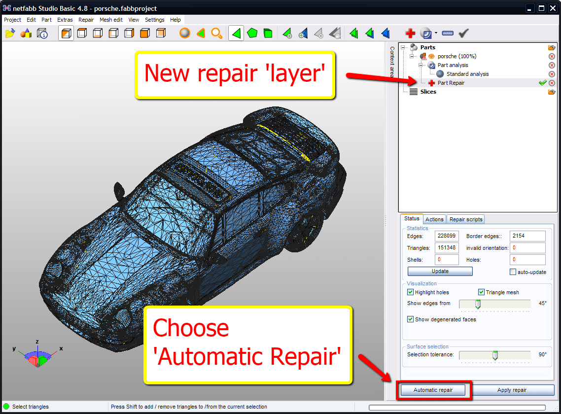 Repair Automatic Automatically Repair Stl Files In 2 Minutes With Netfabb