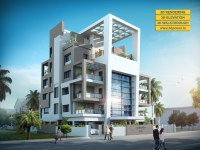 modern apartments exterior design  3d architectural ...