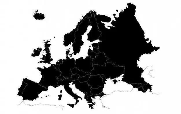 Mapa de Europa Vectorial gratis