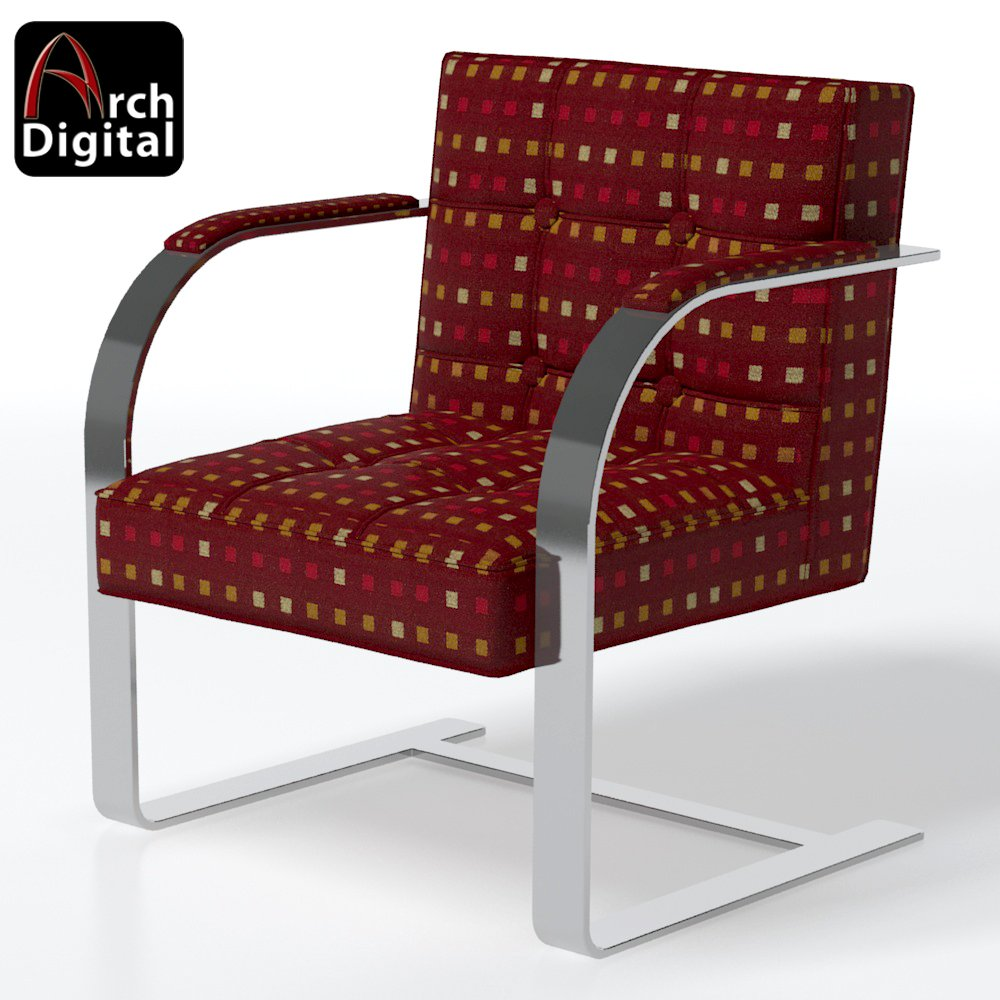 Sedia Barcelona 3d Brno Barcelona Chair Free 3d Model In Chair 3dexport