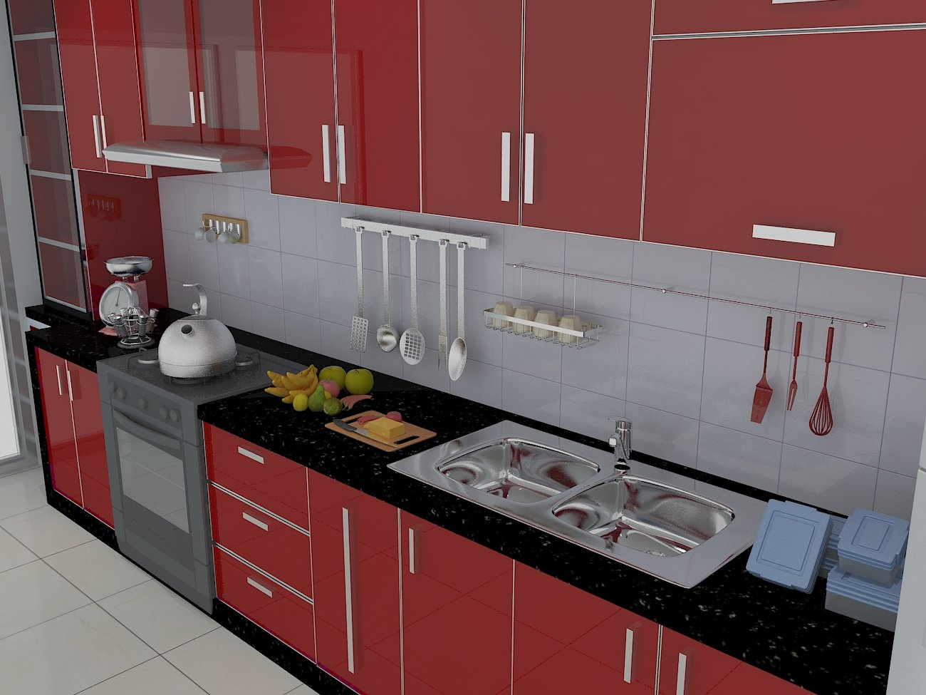 Kitchen Design 3d Model Kitchen Design 3d 3d Model In Kitchen 3dexport