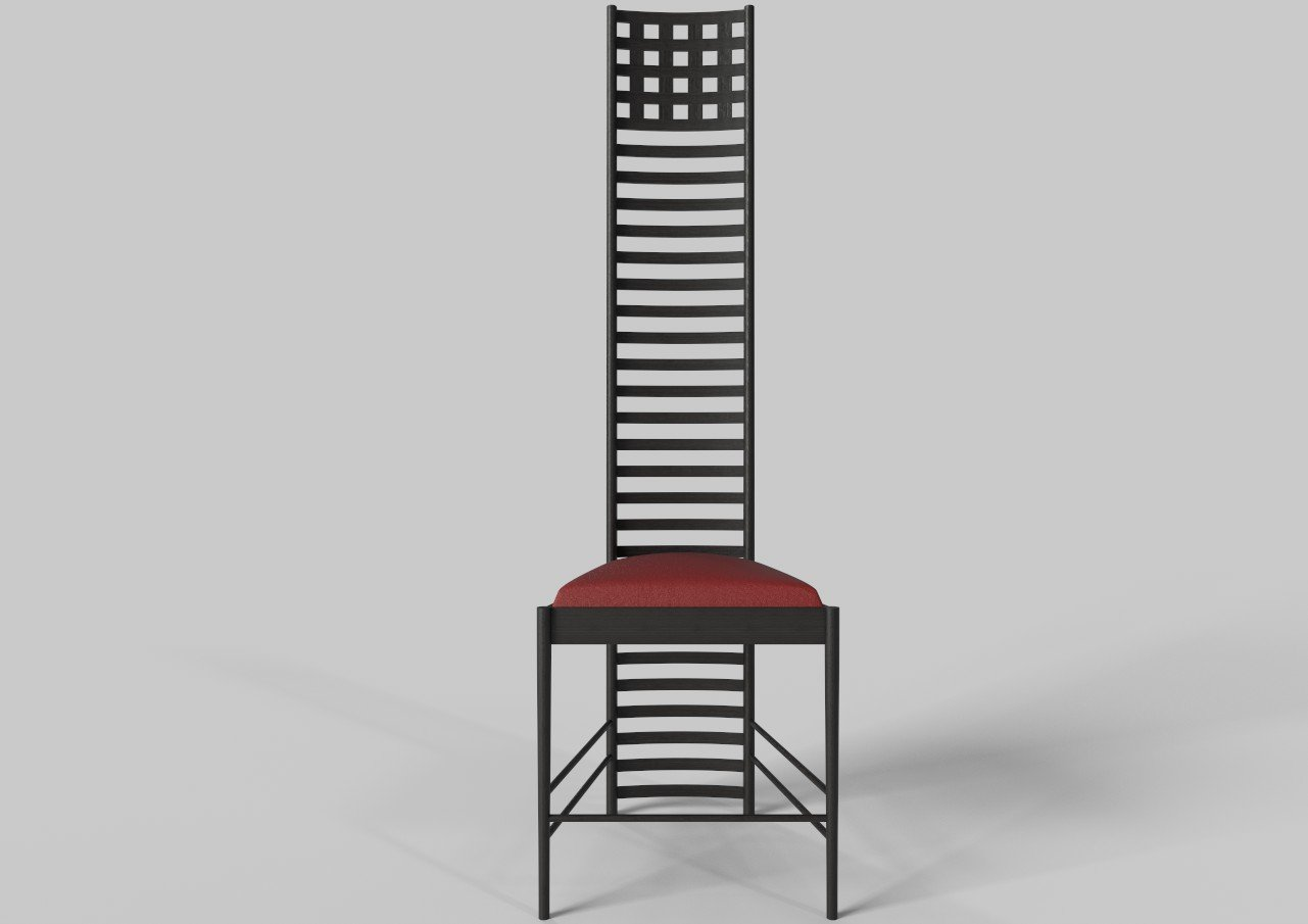 Sedia Mackintosh Originale Hill House Chair By Charles Rennie Mackintosh Modello 3d In Sedia 3dexport