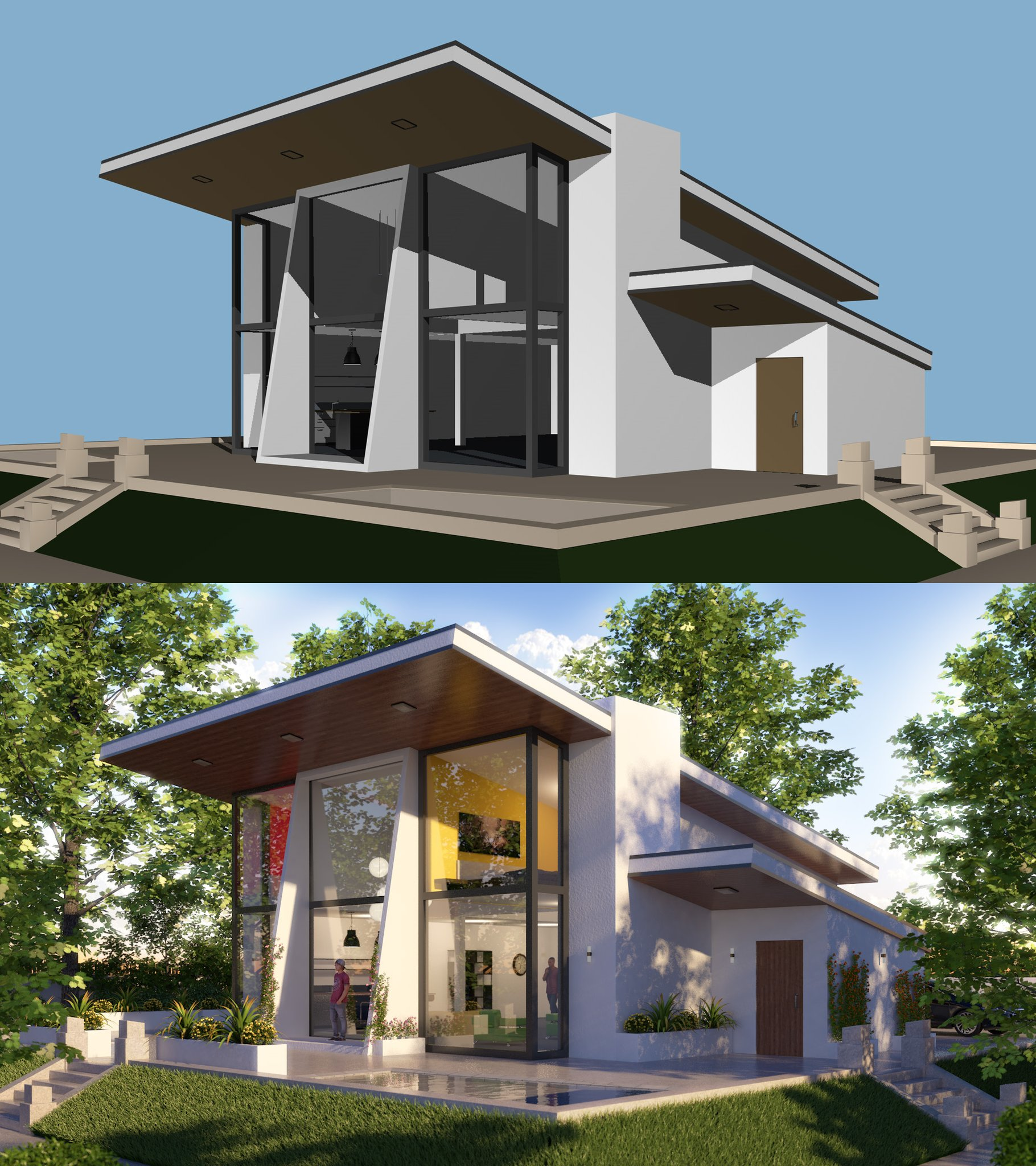 Architektur Rendering Photoshop Cinema 4d R19 Modern Exterior Architecture Video Tutorial