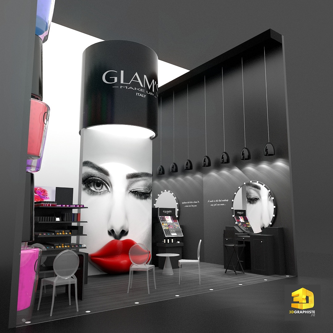 Salon Maquillage Stand Cosmétiques Glam S Make Up 3dgraphiste Fr