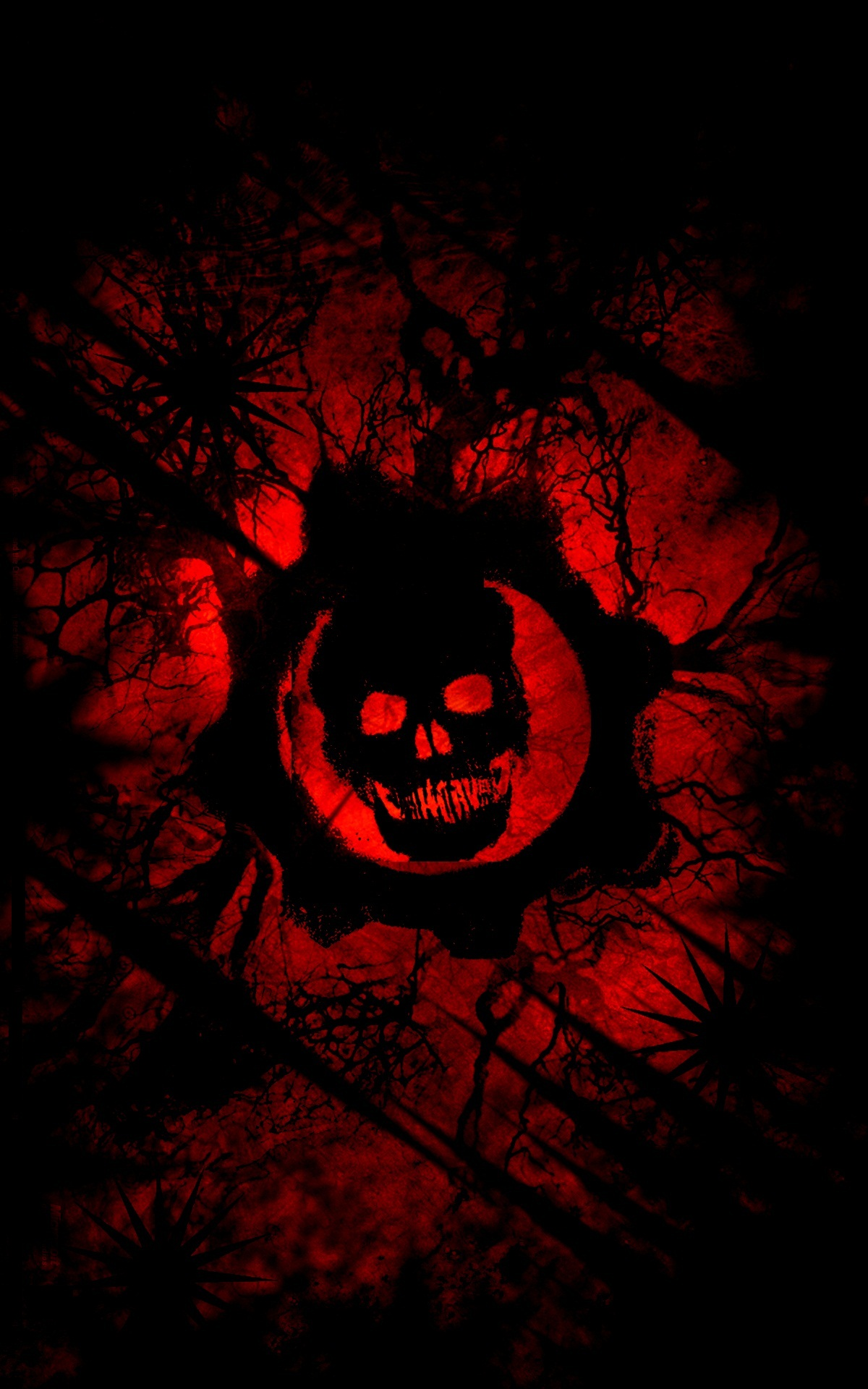 Cute Painting Hd Wallpapers Gears Of War Red Wallpaper Iphone 3d Iphone Wallpaper