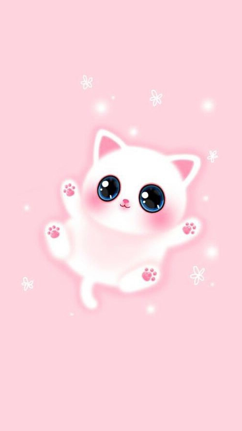 Cute Girly Ipad Wallpapers Pink Lovely Cat Iphone Wallpaper 2018 Iphone Wallpapers
