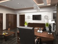 3D-visualization Luxury office room