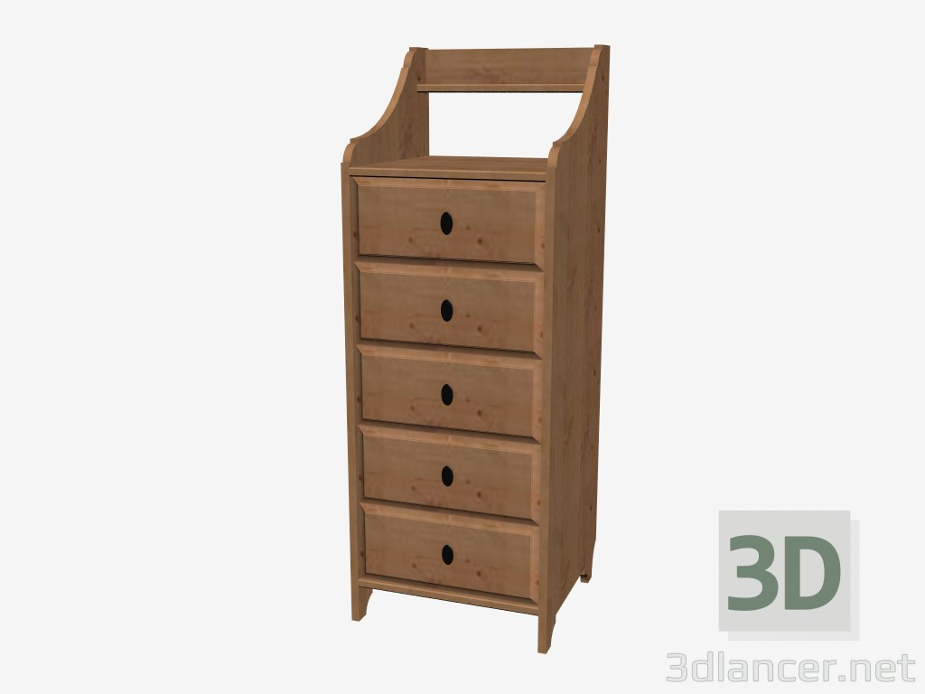 Commode Leksvik 3d Model Chest Of Drawers With 5 Drawers Manufacturer Ikea Id 16222