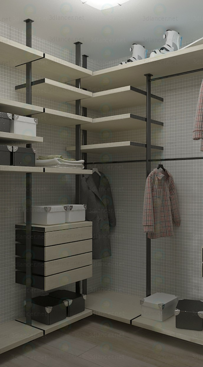 Model De Dressing 3d Model Modern Dressing Room 1680x1870x2830 H Mm Max 2014