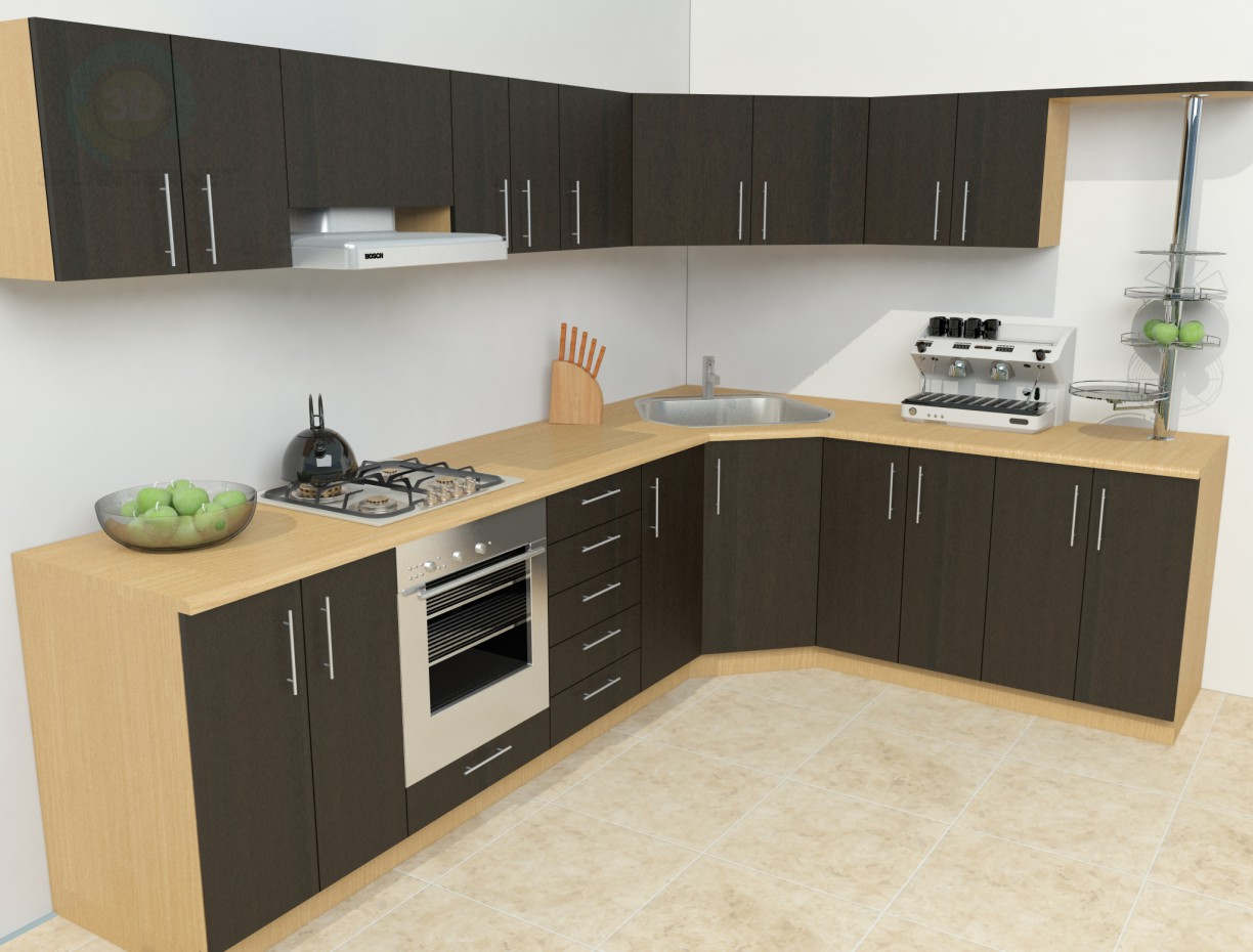 Small Kitchen Models 3d Model Simple Kitchen Download For Free