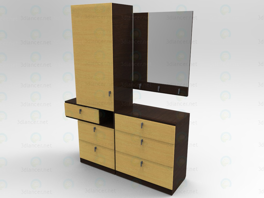 Schrank Flur 3d Model Flur Schrank Mit Regal 3ds Obj Fbx Blender Loft