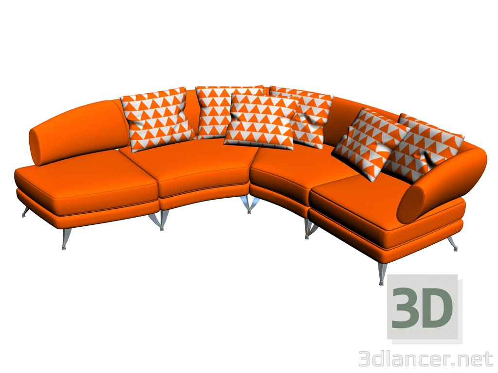 Rolf Benz Couch 3d Model Sofa 222 Rolf Benz Max 2012 Free Download 3dlancer