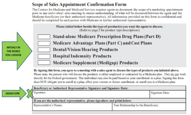 Why Do I Need to Sign the Medicare Scope of Appointment Form - Medicare Form
