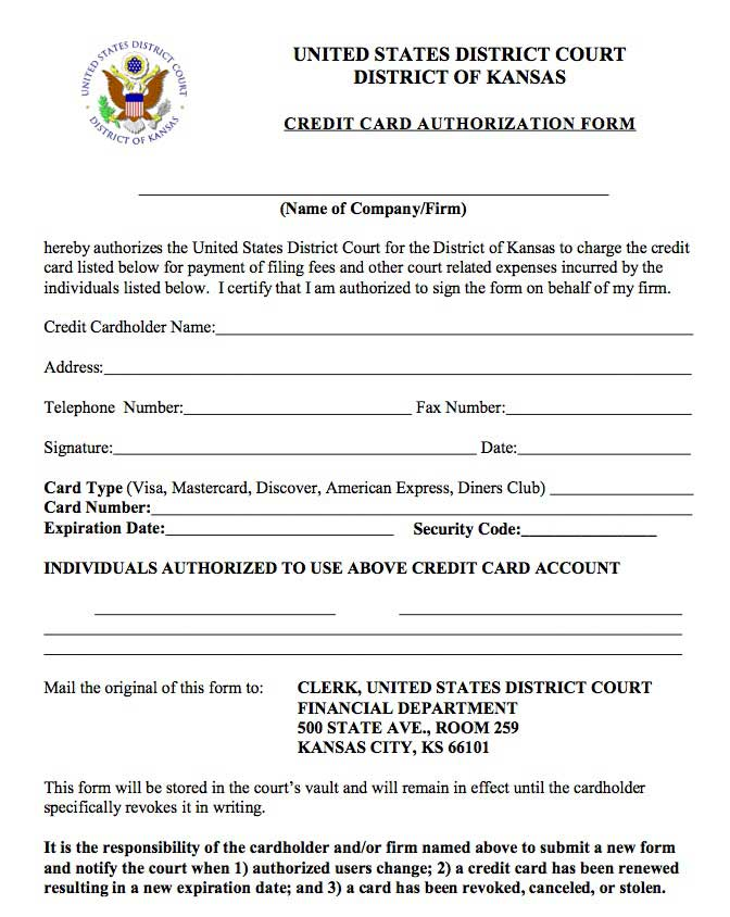 authorization to use credit card - Amitdhull - credit card form