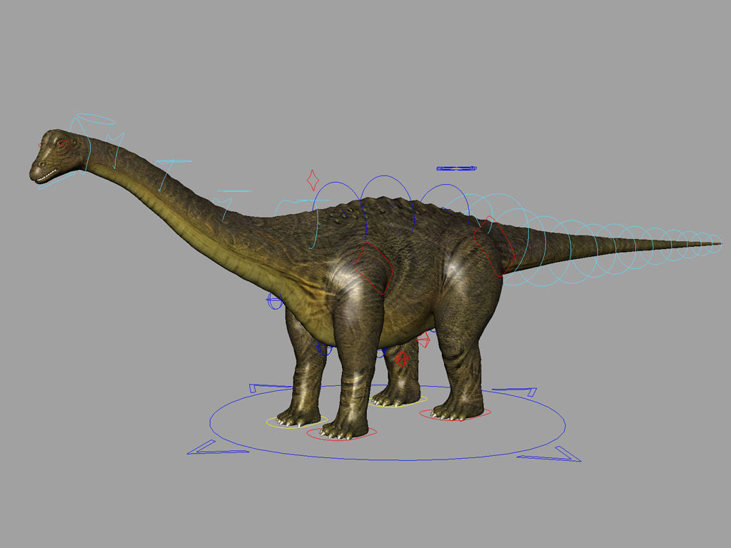 3d Models For Animation Brontosaurus Rig Animation Ready 3d Models World