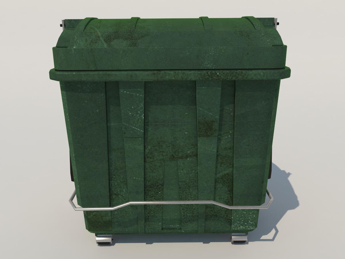 Large Plastic Garbage Bin 3d Model 3d Models World