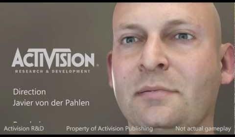 Activision R&D Real-time Character Demo – え?リアルタイムとは思えない脅威のキャラクターモデル!細かなシワ表現にも注目!
