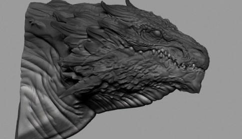 Zbrush Dragon Head Speed Sculpting (40min)