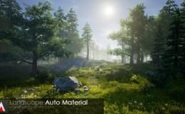 LAM(Landscape Auto Material) - まるで地形生成ツール!地面の起伏に合わせて自動的に素材を反映する「Unreal Engine 4」用アドオン映像!