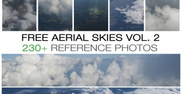 Free aerial skies - photo pack vol. 2