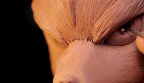 Sculpting Fox McCloud from Starfox Traditionally - フォックスマクラウド(スターフォックス)造形メイキング映像!