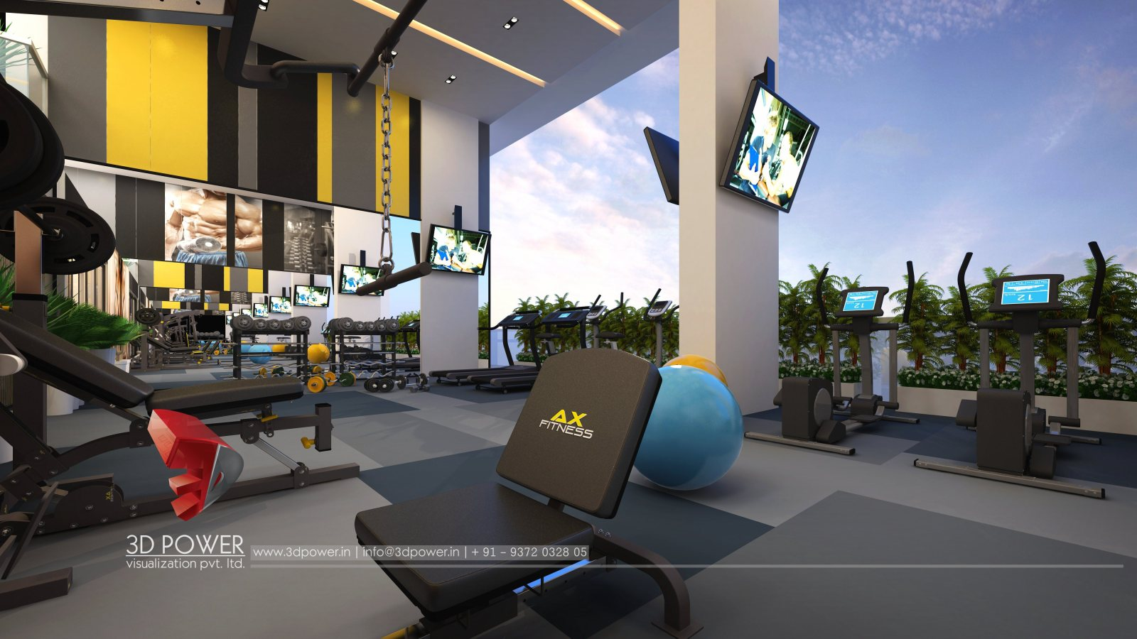 architectural-visualization-architectural-3d-walkthrough-gym-designing-3d-studio-apartment
