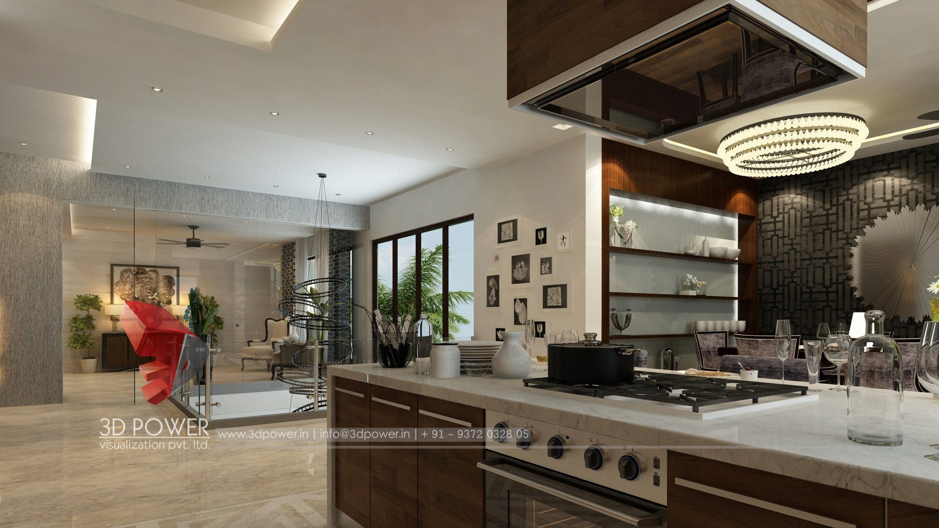 Commercial Kitchen 3d Design 3d Interior Design Rendering Services Bungalow Home Interior