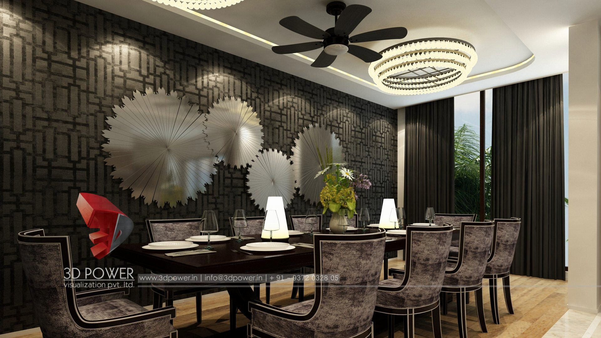Home Interior Design Dining Room 3d Interior Design And Rendering Services Bungalow And Home