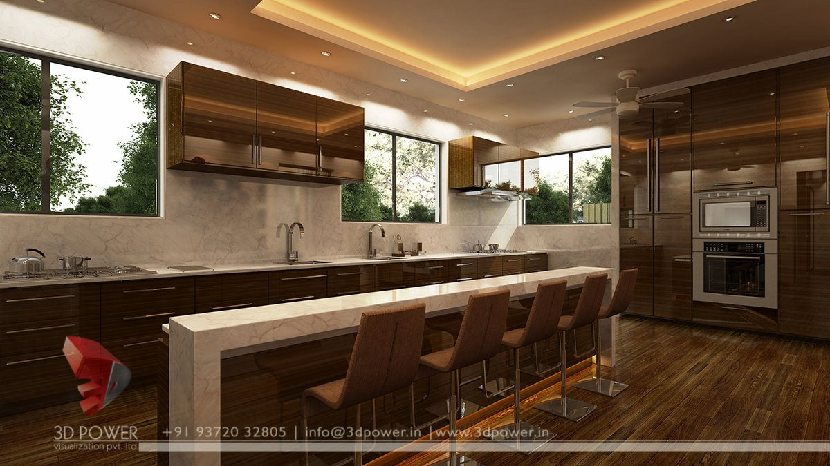 Kitchen Design 3d Model Modular Kitchen Interiors 3d Interior Designs 3d Power