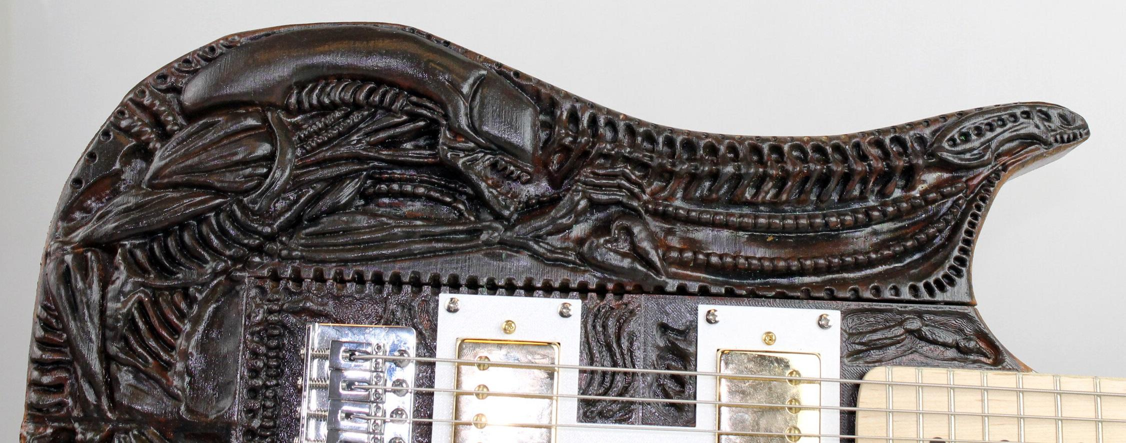 3d Wood Effect Wallpaper A Truly Disturbing 3d Printed Guitar Inspired By