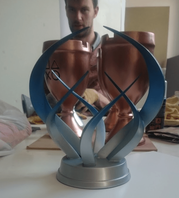 Online Shop Design Deethree 3d Prints Elaborate Playstation Trophies For