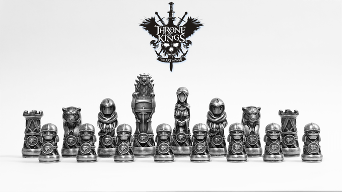 Cheap 3d Wallpaper Uk 3d Printed Molds For Pieces In Throne Of Kings Chess Set