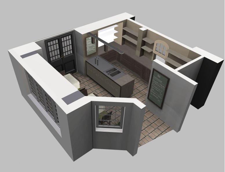 L Kitchen With Island Layout Images L Shaped Kitchen Interior - bemalte mobel romantischen motiven