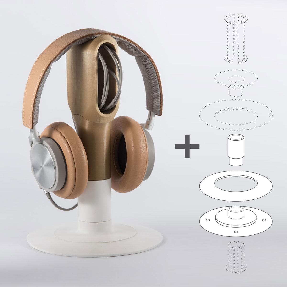 Headphones Holders Eumakers Launches Transformable Filament Spools That Turn