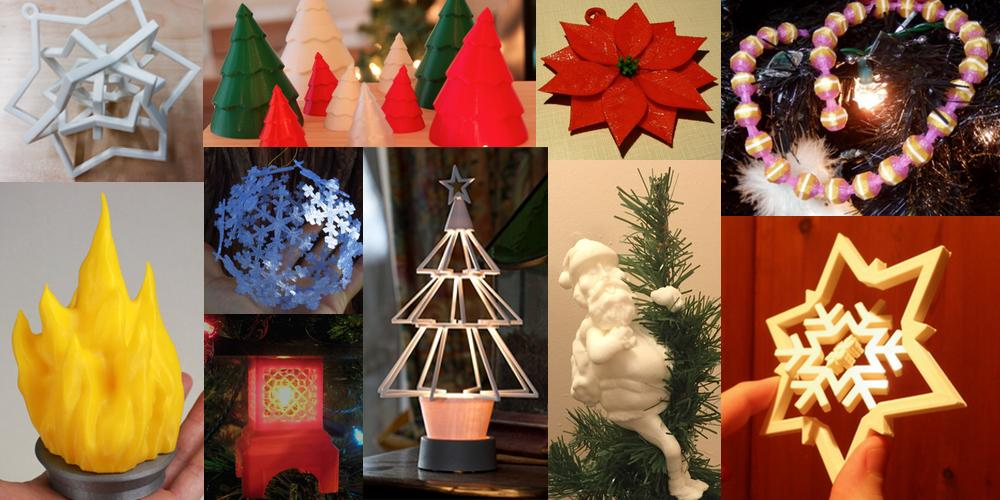 Weekly Roundup Ten 3D Printable Unique Christmas Tree Decorations - unique christmas decorations