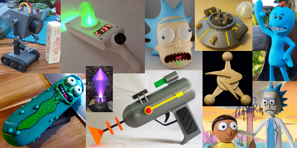 Ten 3D Printable Things Rick and Morty 3DPrint The Voice of