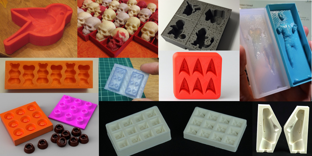 Ten 3D Printable Things Chocolate, Ice Cube and Jello Molds