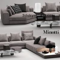 Model sofa 3dmax minotti freeman seating -Maxbrute