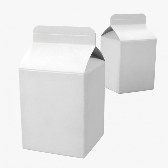 3D Pint Milk Carton Generic Template model 3D Molier International - Milk Carton Template