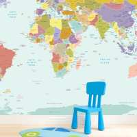 Wall Sticker Map Of The World - [peenmedia.com]