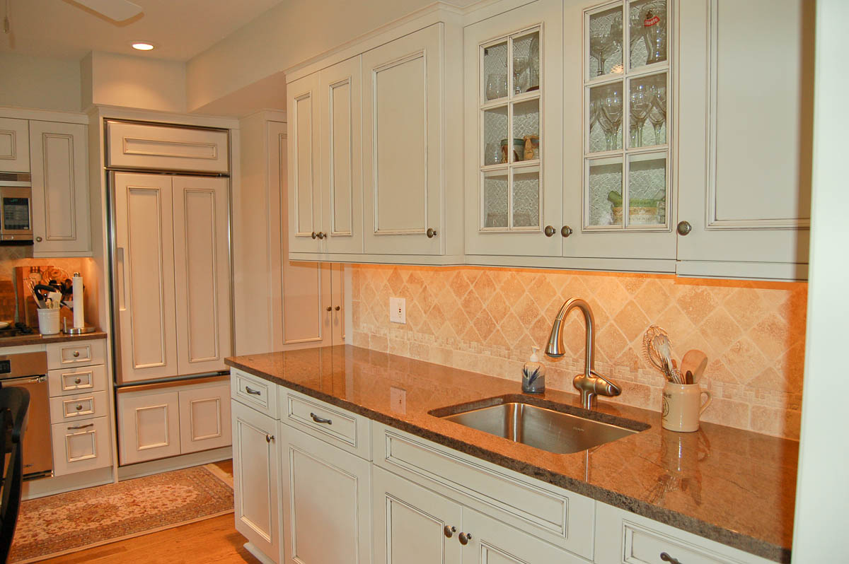 white cabinet kitchen w bench kitchen remodeling chicago OVERVIEW
