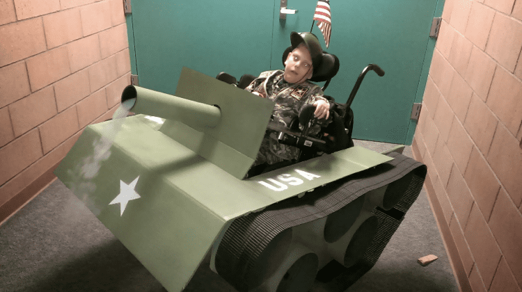 Dad Converts Son39s Wheelchair Into An Army Tank For