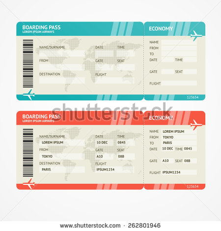 Boarding Pass Templates for Invitations  Gifts - plane ticket invitation template