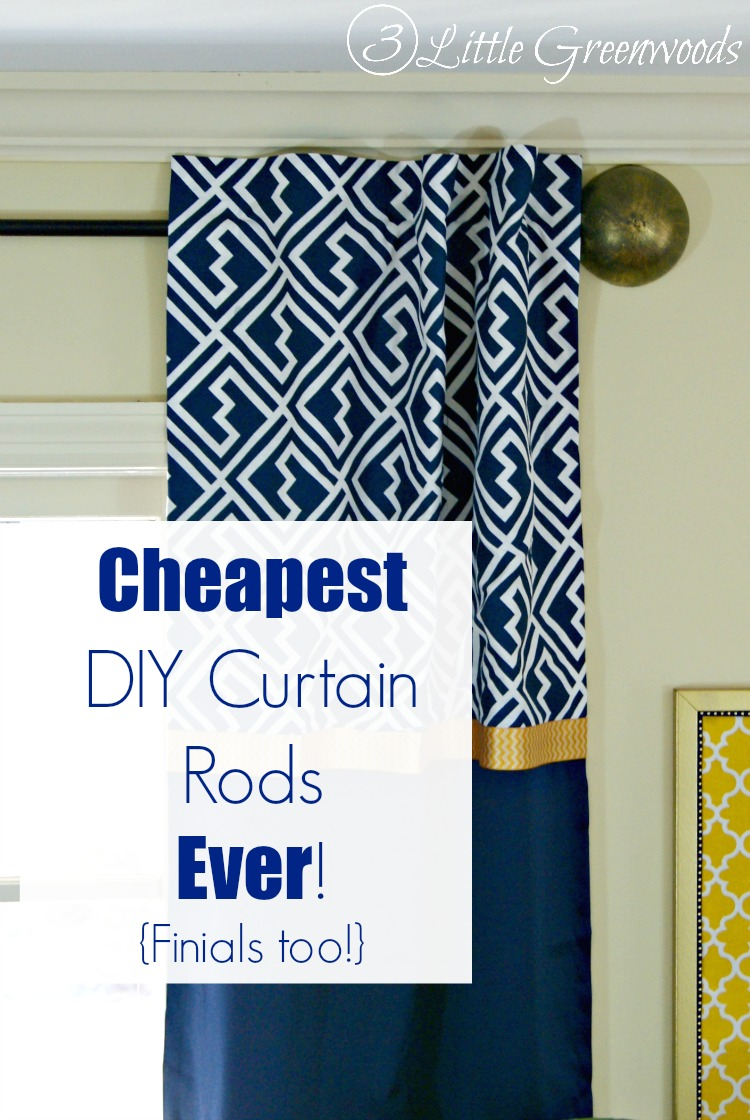 Cheap Finials For Curtain Rods Diy Curtain Rods Ever Finials Too