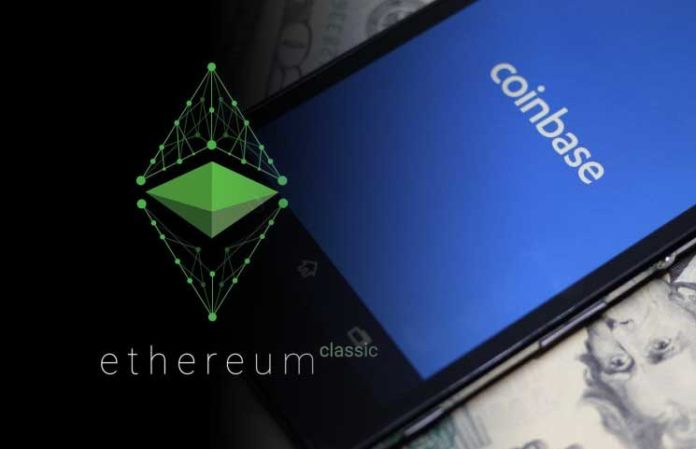 Ethereum Classic Listed on Coinbase; ETC Price Drops 10 in Last