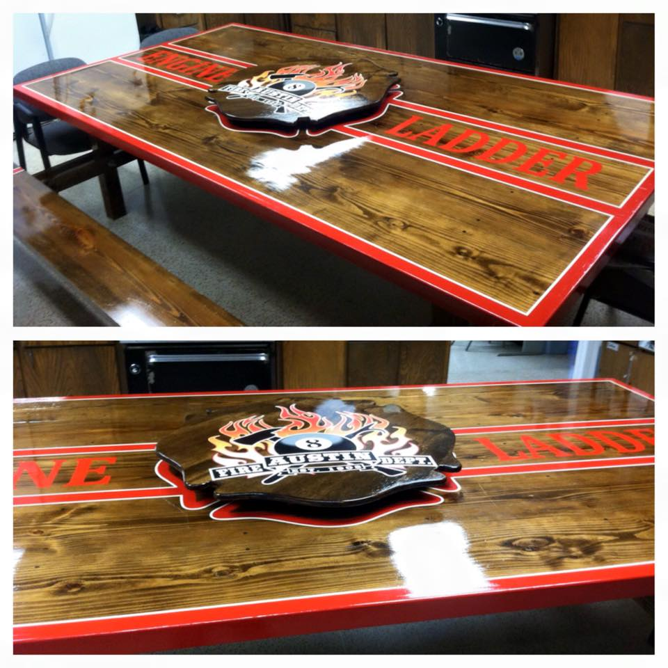 gallery firehouse kitchen tables part ii kitchen tables Austin Fire Department Station 8